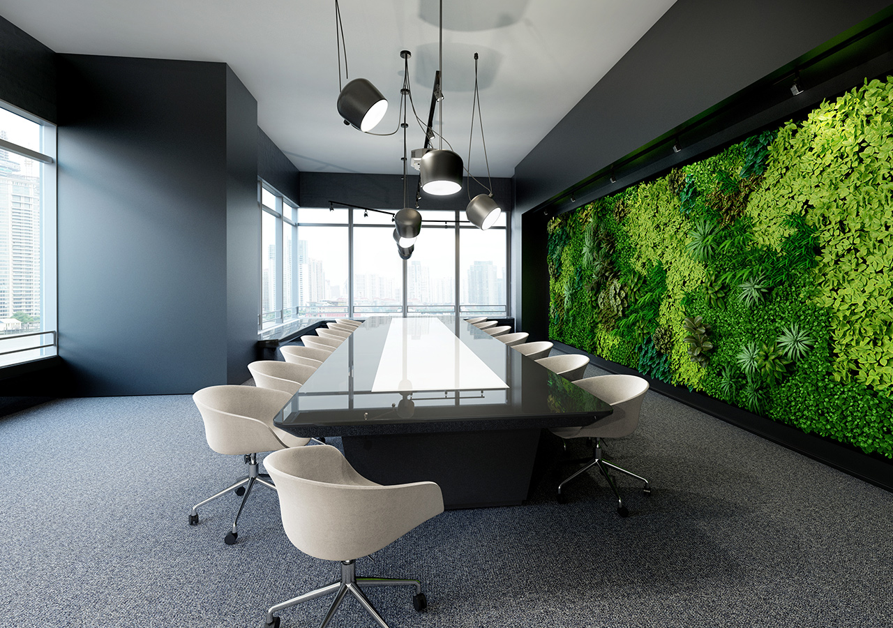 Conference Room with Live Wall